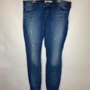 Torrid Skinny Jeans Distressed Size 18